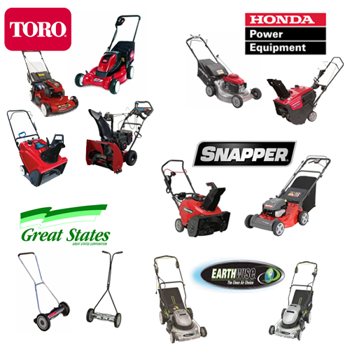 lawn mowers and snow blowers