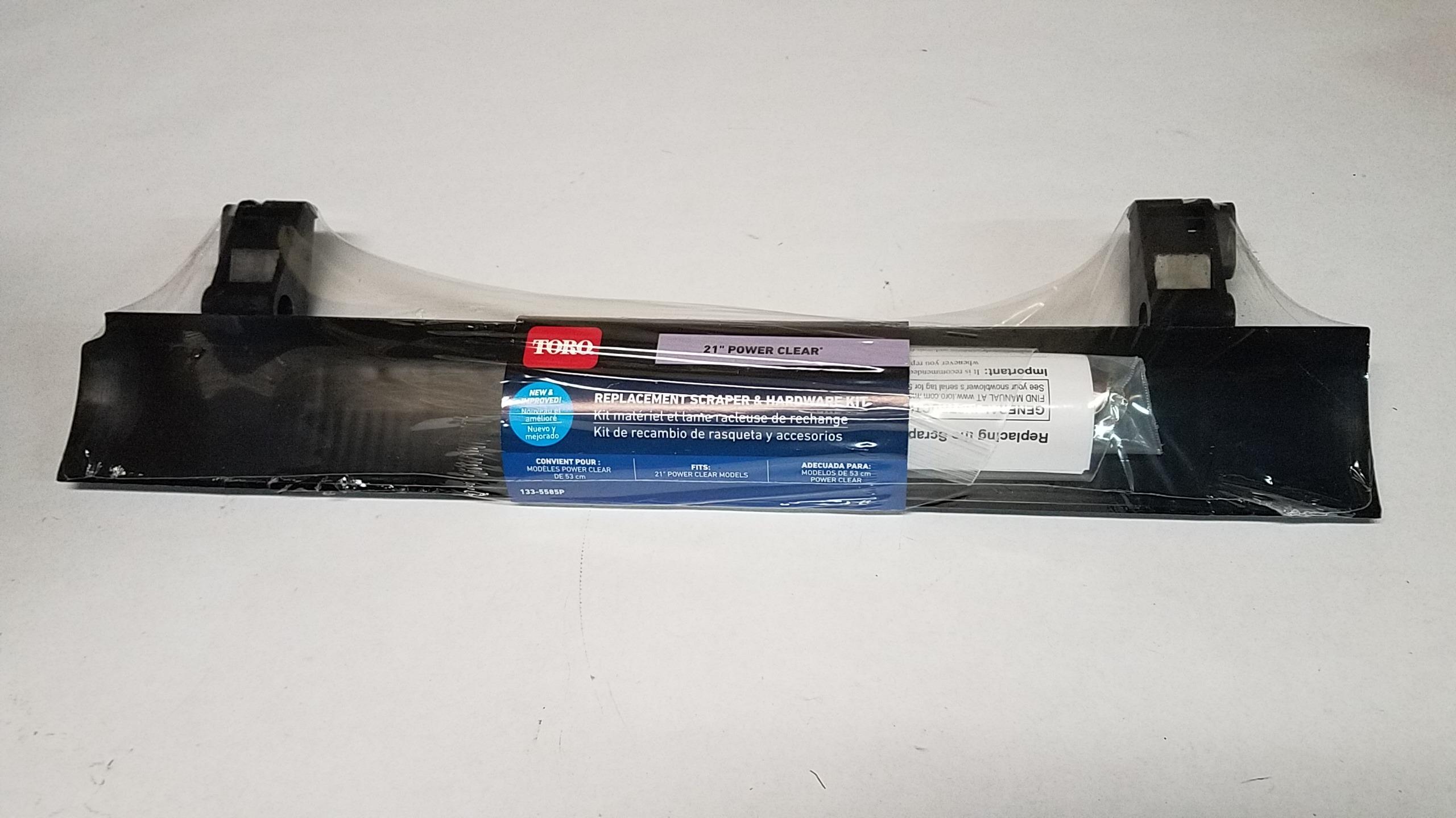 """NEW TORO 38269 21/""""INCH REPLACEMENT SCRAPER /& HARDWARE KIT"""